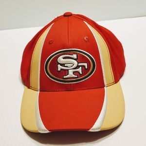 SF 49ers  Red Embroidered Baseball Cap hat
